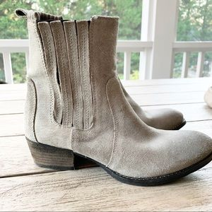 Splendid Gray Leather Ankle Boot Size 7.5